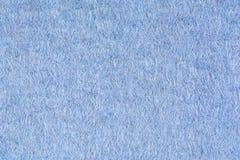 Blå texturbakgrund för woolen tyg, slut upp Royaltyfri Foto