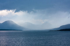 Blå timme i Moldefjord Arkivbilder