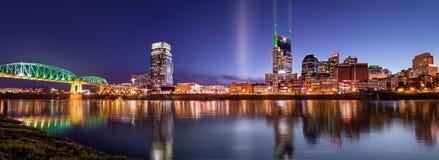 Blå timme i Nashville Fotografering för Bildbyråer