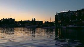 Blå timme i Savonlinna Finland lager videofilmer