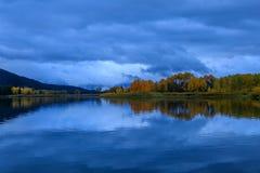 Blå timme i Tetonsen Royaltyfri Fotografi