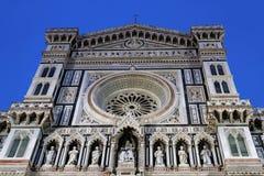 Blå timme på Florence Cathedral Royaltyfri Foto