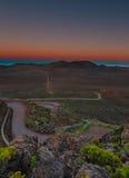 Blå timme på vulkan Royaltyfria Bilder