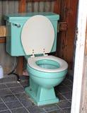 blå toalett Royaltyfri Bild