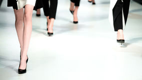 blå ton för show för modeexponeringsfotograf royaltyfria bilder