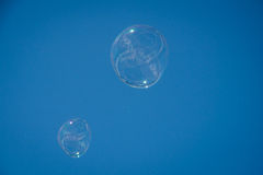 blå tonality för bubblatvålstruktur Royaltyfri Foto