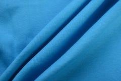 Blå torkduk för skojare som göras av bomullsfiber arkivfoto
