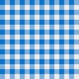 blå torkduketabell Fotografering för Bildbyråer