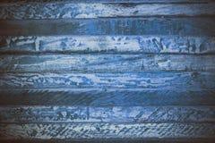Blå träabstrakt textur Blå tappningträbakgrund Abstrakt textur och bakgrund för formgivare Makrosikt av blått trä Royaltyfri Fotografi