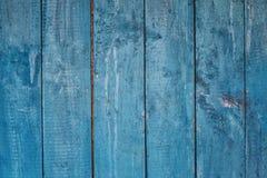 Blå träbakgrund från bräden Royaltyfria Bilder