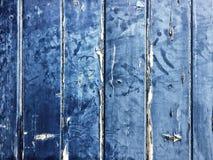Blå träbakgrundstappning Arkivbild