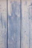 Blå träplankayttersidabakgrund Arkivfoton