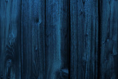 Blå trätextur Arkivbild