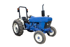 blå traktor Fotografering för Bildbyråer