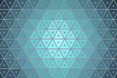 Blå triangellutningtextur Arkivbilder