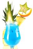 blå tropisk coctailananas Arkivfoto