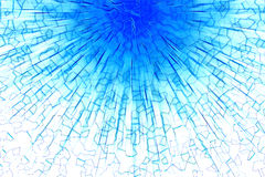 Blå tryckvågabstrakt begreppbakgrund Royaltyfria Foton