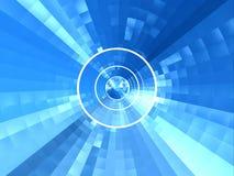 blå tunnel Arkivbild