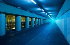 blå tunnel Arkivbilder