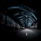 Blå tunnel 2 Arkivbild