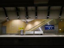 blå tunnelbana för stationsgångtunnelton Arkivfoto