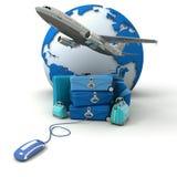 blå tur för bokningflyggolf Royaltyfri Foto