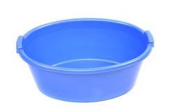 Blå tvättbalja arkivfoto