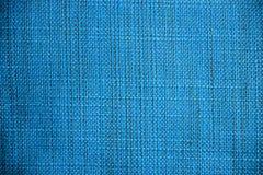 blå tyglampatextur Blå torkdukebakgrund Övre sikt för slut av blå tygtextur och bakgrund Royaltyfri Fotografi