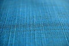 blå tyglampatextur Blå torkdukebakgrund Övre sikt för slut av blå tygtextur och bakgrund Arkivfoton