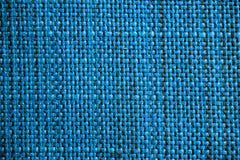 blå tyglampatextur Blå torkdukebakgrund Övre sikt för slut av blå tygtextur och bakgrund Royaltyfri Bild