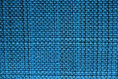 blå tyglampatextur Blå torkdukebakgrund Övre sikt för slut av blå tygtextur och bakgrund Royaltyfria Bilder