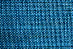 blå tyglampatextur Blå torkdukebakgrund Övre sikt för slut av blå tygtextur och bakgrund Arkivbilder