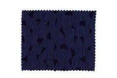 blå tygprovkarta Arkivfoto