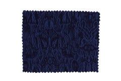 blå tygprovkarta Arkivfoton