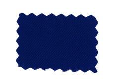 blå tygprovkarta Royaltyfri Bild