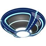 Blå ufo Arkivfoto