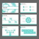 Blå uppsättning för design för lägenhet för mall för presentation för symbol för teknologiInfographic beståndsdelar för annonseri Royaltyfria Bilder