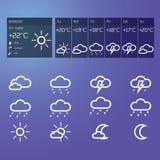 Blå vädermanick Arkivbild