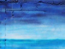 blå vägg Fotografering för Bildbyråer