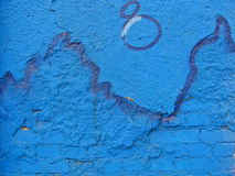 blå vägg Royaltyfri Fotografi