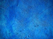 Blå vägg för bakgrundstexturcement Arkivbilder