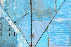 Blå väggtextur med den spruckna strukturen Royaltyfri Foto