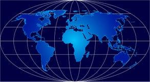 blå värld Arkivfoto