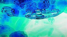 Blå vätska 0201 Arkivbilder