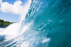 Blå våg, Bali Royaltyfri Bild