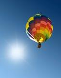blå varm sky för luftballong Royaltyfria Foton