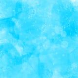 Blå vattenfärg målad grungetextur kronärtskockan Fotografering för Bildbyråer