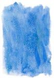 Blå vattenfärgbakgrund Arkivfoton
