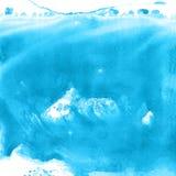 Blå vattenfärgmålarfärgbakgrund som märker urklippsboken, skissar Arkivfoto