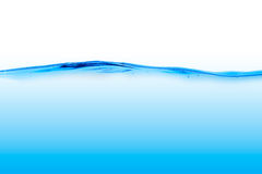 Blå vattenlinje Arkivbild